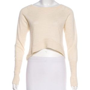 Dolce Vita Baby Alpaca Cropped Cream Sweater